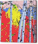 Aspensincolor Redorange Canvas Print
