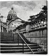 Aspirations In Black And White Canvas Print