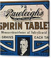 Aspirin 5 Grains Canvas Print