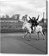 Aspiring Cowboys In Dublin 1961 Canvas Print