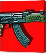 Assault Rifle Pop Art - 20130120 - V1 Canvas Print