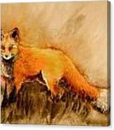 Assessing The Situation Antiqued Canvas Print
