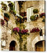 Assisi Courtyard Canvas Print