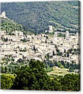 Assisi Italy - Medieval Hilltop City Canvas Print