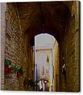 Assisi Walkway Canvas Print