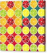 Assorted Citrus Pattern Canvas Print
