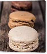 Assorted Macaroons Vintage Canvas Print