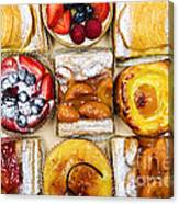 Assorted Tarts And Pastries Canvas Print