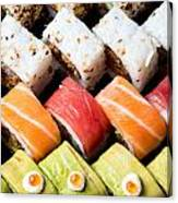Assortment Of Sushi Canvas Print