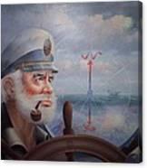 Astounding Sea Captain Original Or Map Captain 1987 Canvas Print