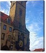 Astronomical Clock Of Prague Canvas Print