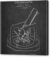 Astronomical Telescope Patent From 1943 - Dark Canvas Print