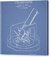 Astronomical Telescope Patent From 1943 - Light Blue Canvas Print