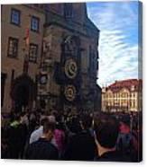 Astronomocal Clock Of Prague II Canvas Print