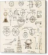 Astronomy Diagrams Canvas Print