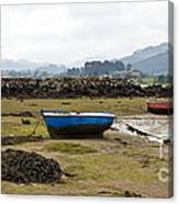 Asturias Seascape With Boats Canvas Print