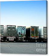 At A Truck Stop Canvas Print