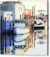 At Cortez Docks Canvas Print