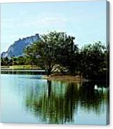 At Fountain Park - View At Red Rock Canvas Print