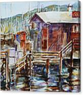 At Monterey Wharf Ca Canvas Print