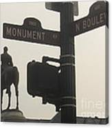 at Monument and Boulevard Canvas Print
