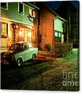 At Night In Thuringia Village Germany Canvas Print