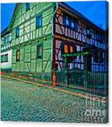 At Night In Thuringia Village Germay Canvas Print