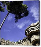 At Parc Guell In Barcelona - Spain Canvas Print