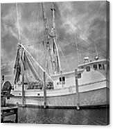 At Rest In The Harbor Canvas Print