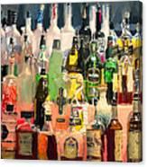 At The Bar Canvas Print