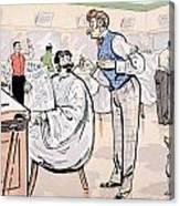 At The Barber And Reading Le Jockey Canvas Print