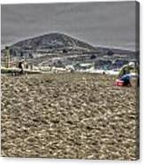 At The Beach At Pacifica Canvas Print