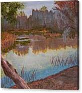 At The Bend On The Ocklawaha  Canvas Print