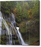 At The Bottom Of Panther Creek Falls Canvas Print