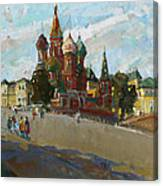 At The Cathedral Of Vasily The Blessed Canvas Print