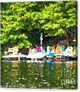 At The Cottage Dock Canvas Print