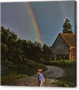 At The End Of A Rainbow Canvas Print