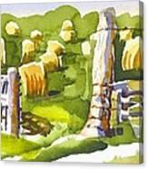 At The Farm Baling Hay II Canvas Print