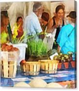 At The Farmer's Market Canvas Print