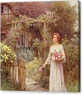 At The Garden Gate Canvas Print