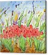 At The Garden Iv Canvas Print