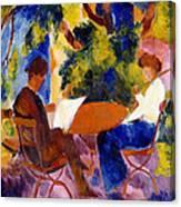 At The Garden Table Canvas Print