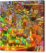At The Market - Oranges Canvas Print
