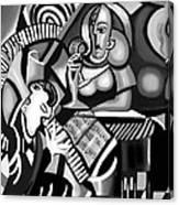 At The Piano Bar Canvas Print