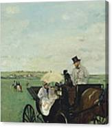 At The Races In The Countryside Canvas Print