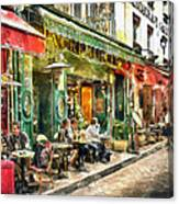 At The Restaurant In Paris Canvas Print