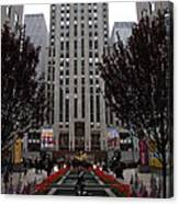 At The Rockefeller Center Canvas Print