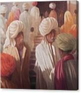 At The Temple Entrance, 2012 Acrylic On Canvas Canvas Print