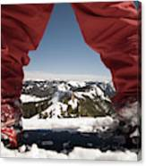At The Top Of The Mountain Canvas Print