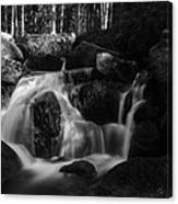 at the upper Bodefall, Harz Canvas Print